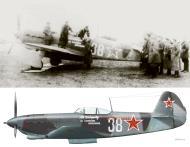 Asisbiz Yakovlev Yak 9T 728IAP White 38 flown by AI Vybornov Poland 2nd Sep 1944 0B