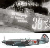 Asisbiz Yakovlev Yak 9T 728IAP presentation aircraft to ace Aleksandr Vybornov slogan reads Pupil of Kashir 1944 03