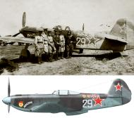 Asisbiz Yakovlev Yak 9U 151GvIAP 294IAD Silver 29 Yambol airfield Bulgaria June 1945 0B