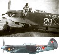 Asisbiz Yakovlev Yak 9U 151GvIAP 294IAD Silver 29 Yambol airfield Bulgaria June 1945 0C