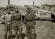 Asisbiz Yakovlev Yak 9U 151GvIAP 294IAD Silver 46 and 47 Yambol airfield Bulgaria June 1945 01