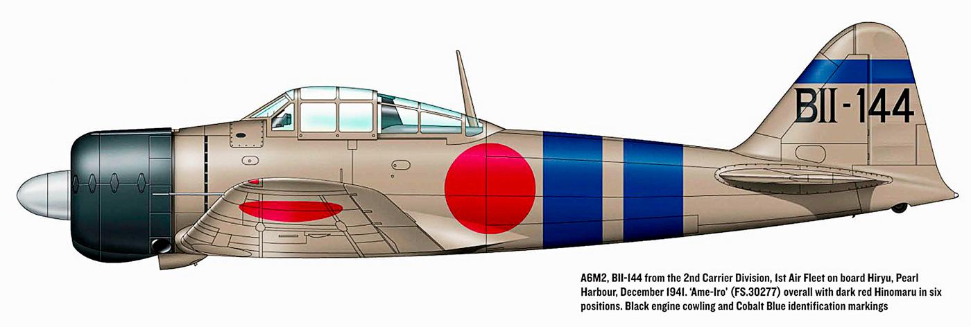 Mitsubishi A6M2 21 Zero JNAF 1st Koku Kantai BII 144 Hiryu 1941 0B