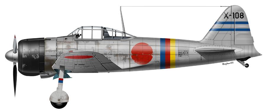 Mitsubishi A6M2 21 Zero JNAF 202Kokutai X 108 Timor 1942 0A