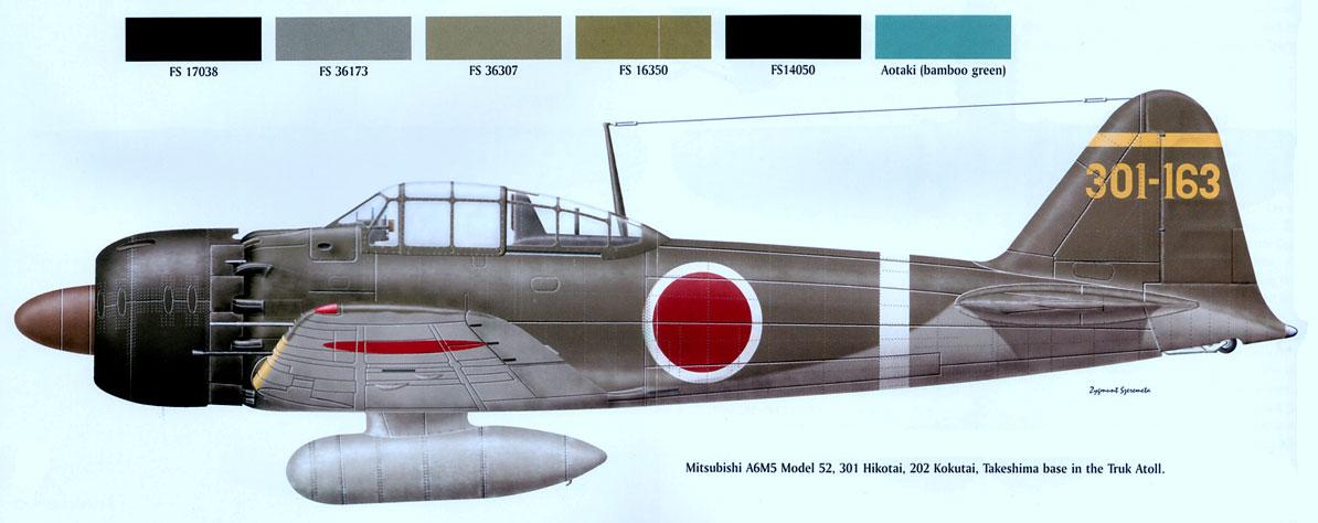 Mitsubishi A6M3 32 Zero JNAF 202Kokutai 301 163 Truk 1942 0A