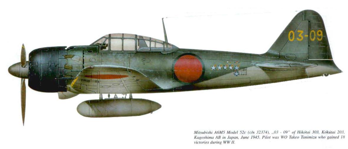 Mitsubishi A6M5a Zero JNAF 303 Hikotai 203 Kokutai 03 09 Takeo Tanimizu Kagoshima 0A