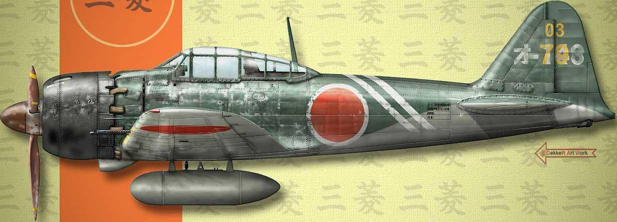 Mitsubishi A6M5c Zero JNAF 203 Kokutai 03 79 Mamoru Uematsu Omura AB Japan 1945 0C