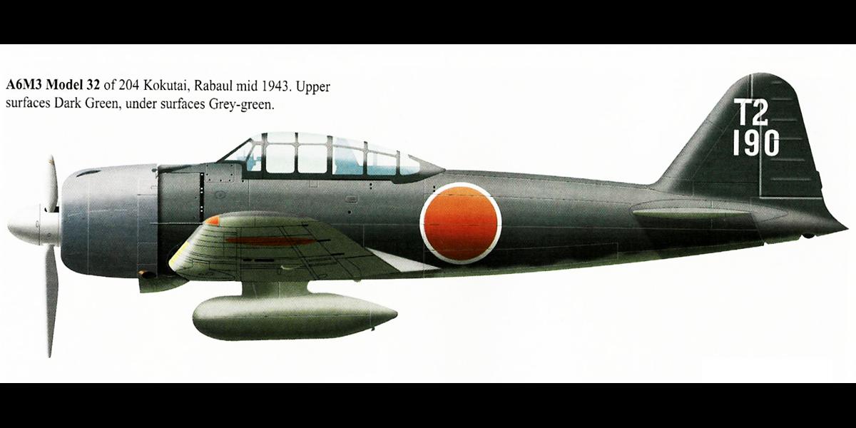 Mitsubishi A6M3 32 Zero JNAF 204 Kokutai T2 190 Shoichi Sugita Rabaul Bougainville 1943 0A
