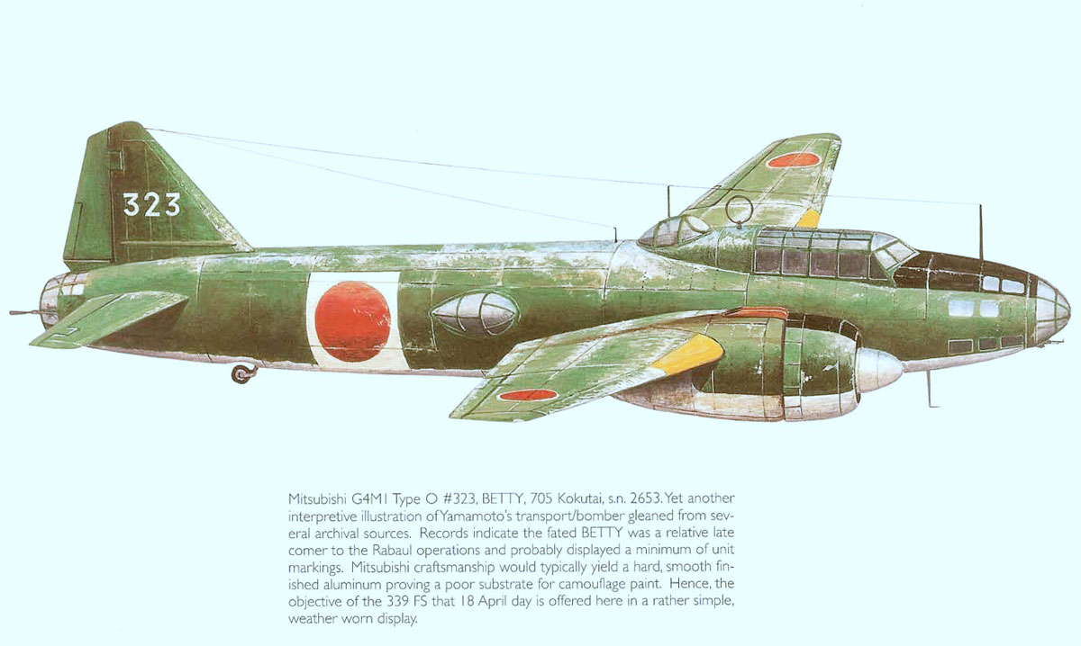 Mitsubishi G4M1 Type 0 705Kokutai 323 Yamamoto 1943 0A