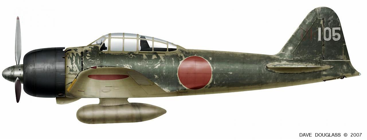 Mitsubishi A6M3 22 Zero JNAF 251 Kokutai UI105 Hiroyoshi Nishizawa Rabaul 1943 0A