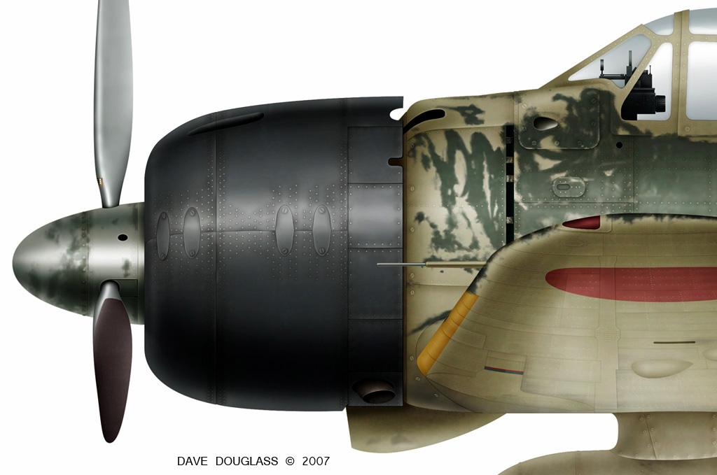 Mitsubishi A6M3 22 Zero JNAF 251 Kokutai UI105 Hiroyoshi Nishizawa Rabaul 1943 0B