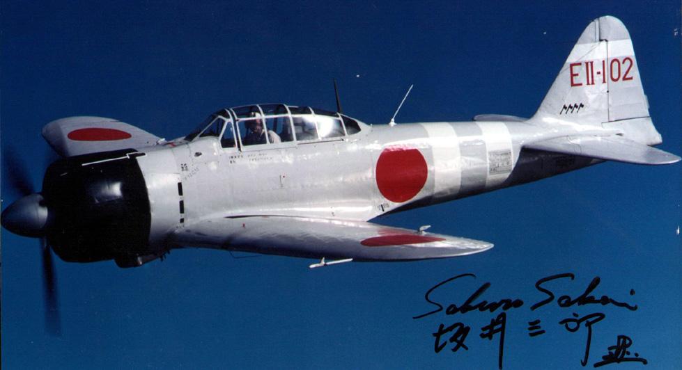 Mitsubishi A6M2 21 Zero JNAF 332Kokutai EII 102 Sato Zuikako restored warbird 01
