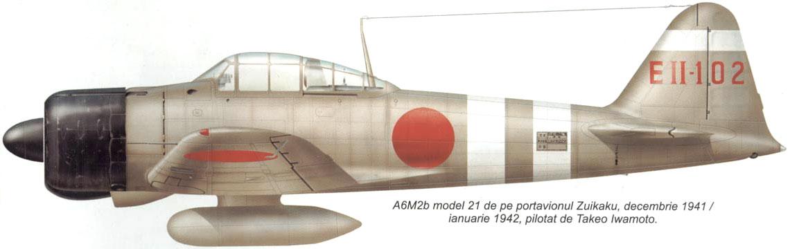 Mitsubishi A6M2 21 Zero JNAF 332Kokutai EII 102 Tetsuzo Iwamoto IJN Zuikaku 1941 0A