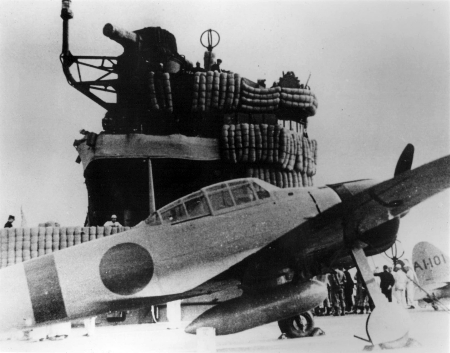 Mitsubishi A6M2 21 Zero fighter aboard the Imperial Japanese Navy carrier Akagi during Pearl Harbor 01