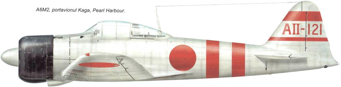 Mitsubishi A6M2 21 Zero JNAF AII 121 Nikado Kaga 1941 0A