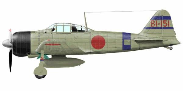 Mitsubishi A6M2 21 Zero JNAF BI 151 Soryu 1941 0A