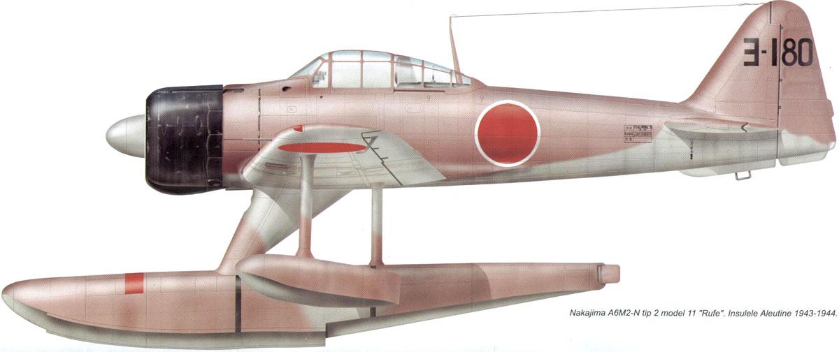 Mitsubishi A6M2 N Zero JNAF Yokosuka Kaigun Kokutai 3 180 Aleutions 1943 0A