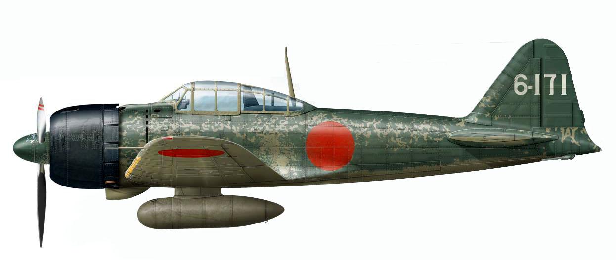 Mitsubishi A6M3 22 Zero JNAF 253AG 6 171 Rabaul 1943 0A