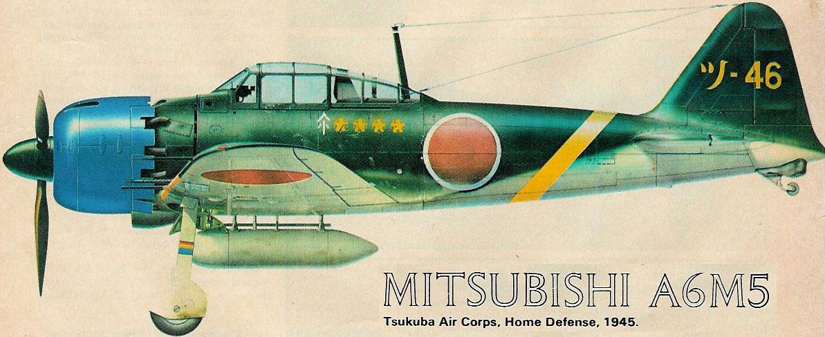 Mitsubishi A6M5c Zero JNAF Tsukuba Kokutai Oita 1945 0A