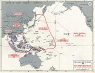 Asisbiz Battle map showing the area of the Far East and Pacific 1941 0A
