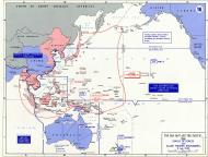 Asisbiz Battle map showing the area of the Far East and Pacific 1941 0D