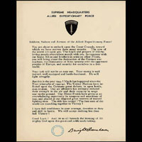 SHAFE Headquarters statement from Commanding General Dwight D Eisenhower to the troops June 1944