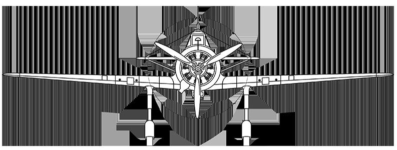 Fokker D.XXI head-on profile
