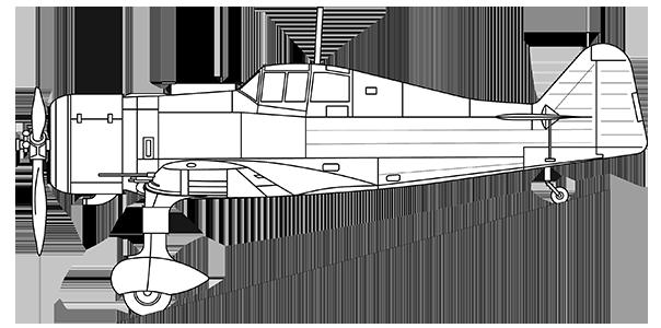 Fokker D.XXI side profile