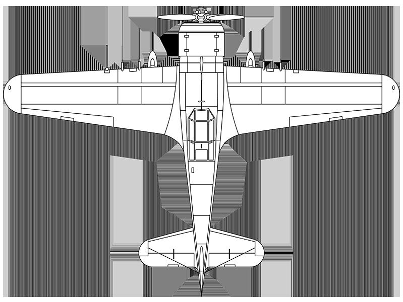 Fokker D.XXI top profile