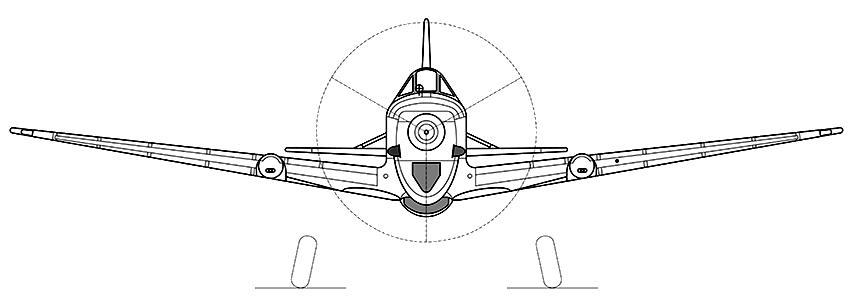 Morane-Saulnier M.S.406 C1 head-on profile