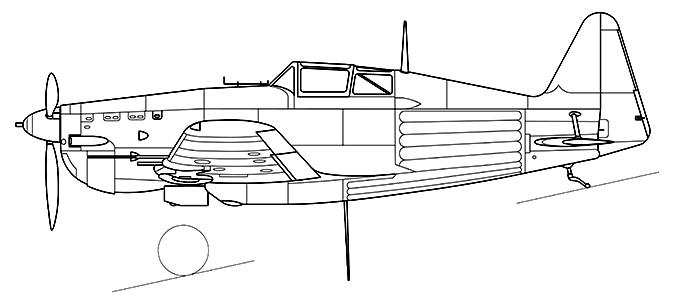 Morane-Saulnier M.S.406 C1 side profile