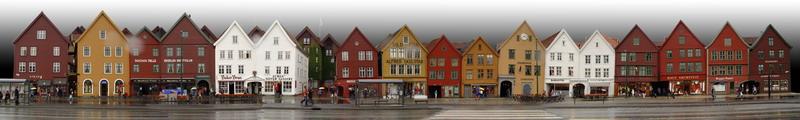 panorama shot Bryggen