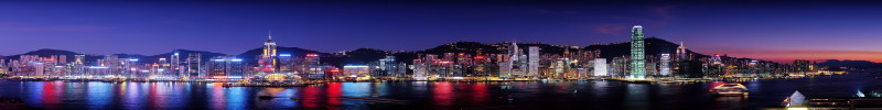 Hong Kong panoramic view at night