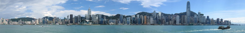 Hong Kong panoramic view by Pauliyas