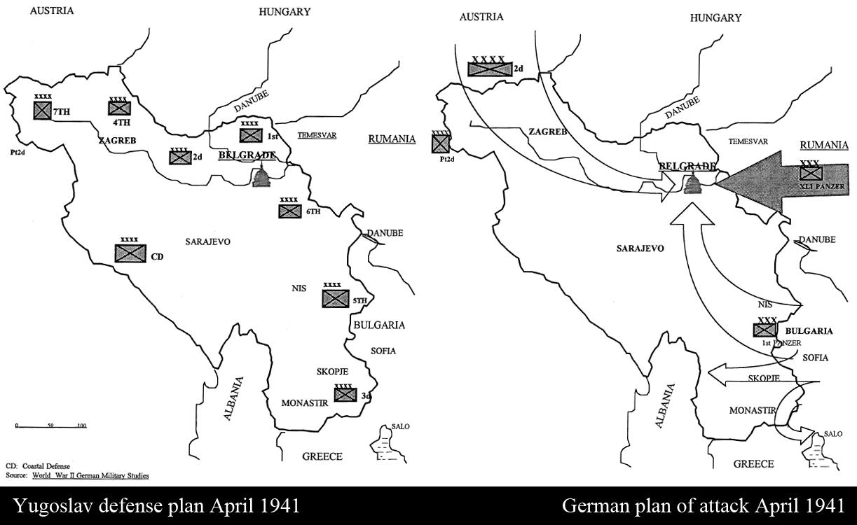 Asisbiz military history Invasion of Yugoslavia map
