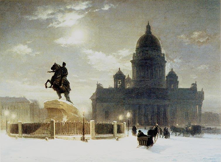 The Bronze Horseman, by Vasily Ivanovich Surikov
