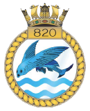 emblem Royal Navy FAA 820NAS