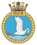 emblem Royal Navy FAA 824NAS