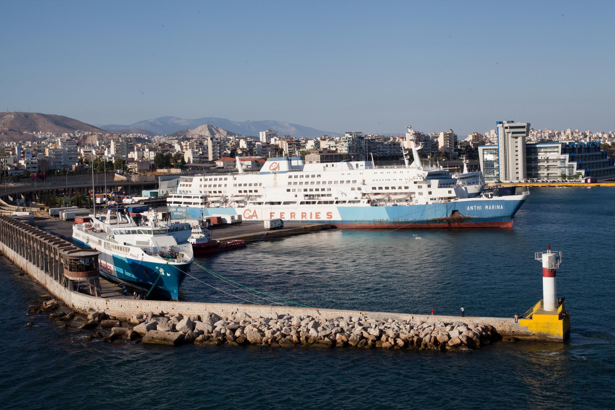 MS Anthi Marina IMO 7820473 GA Ferries docked Piraeus Port of Athens Greece 03