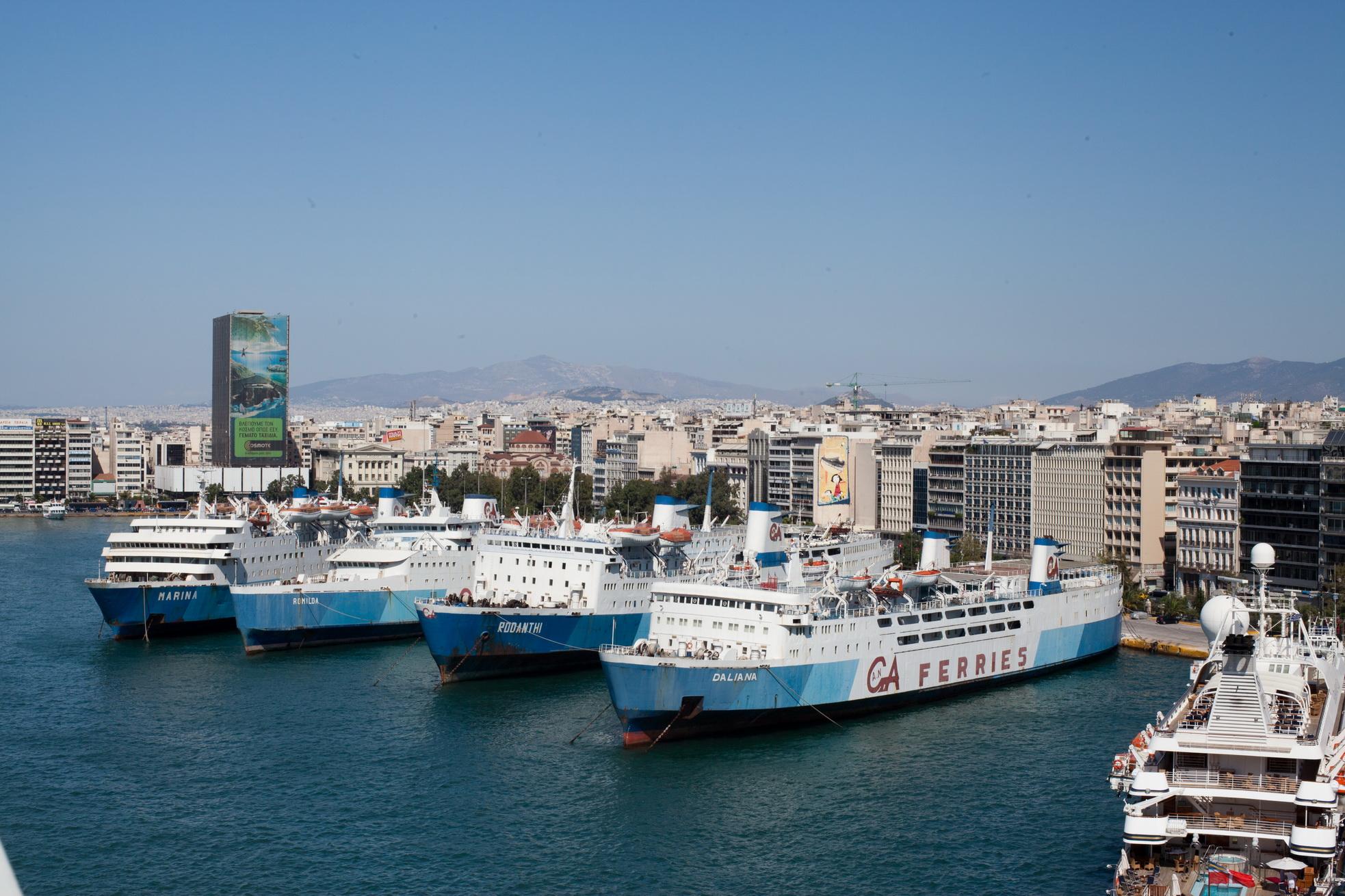 MS Daliana IMO 7007265 Rodanthi Romilda and Marina GA Ferries docked Piraeus Port of Athens Greece 01