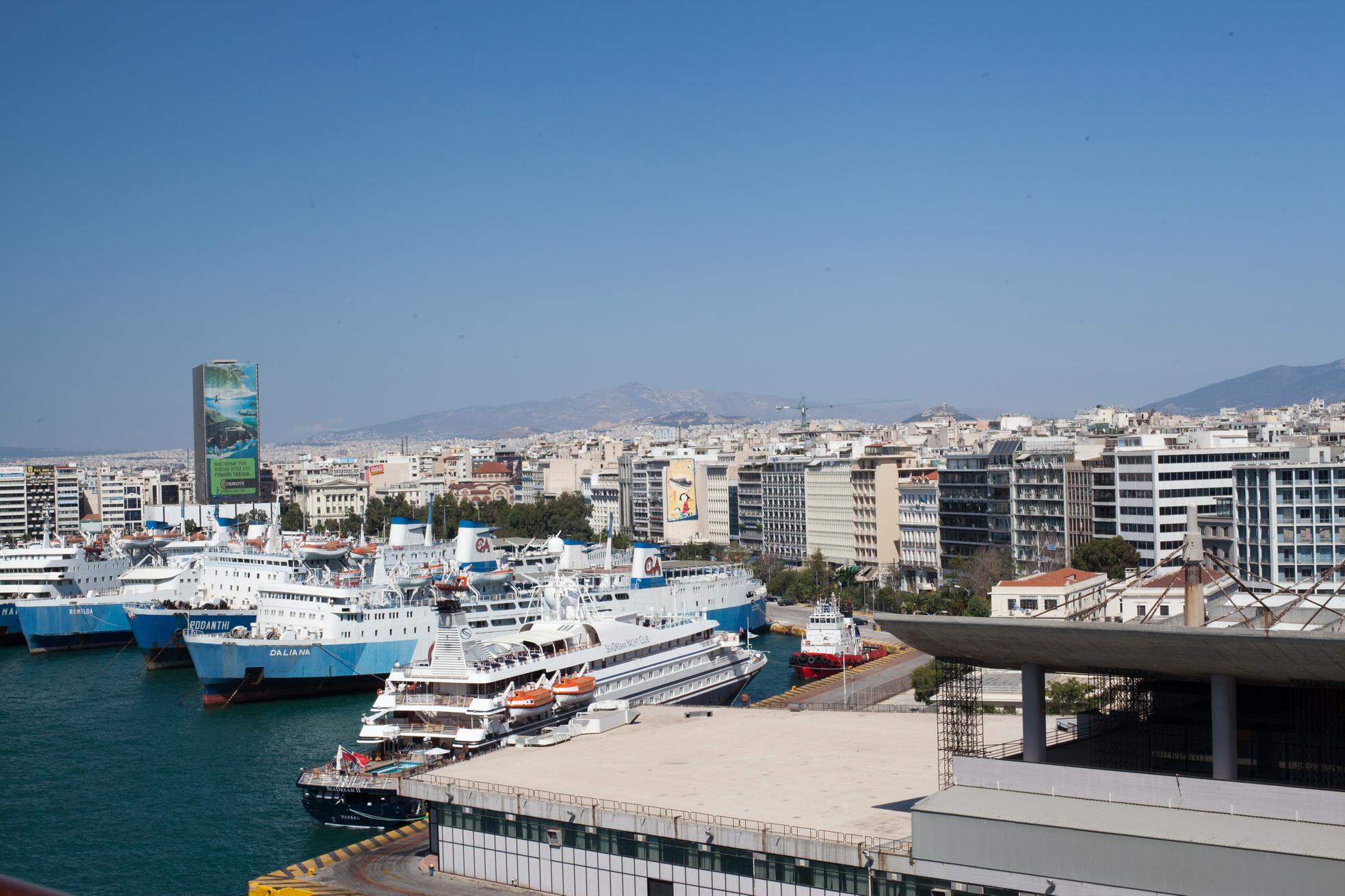 MS Marina Romilda Rodanthi Daliana GA Ferries and Yacht Sea Dream II docked Piraeus Port of Athens Greece 01