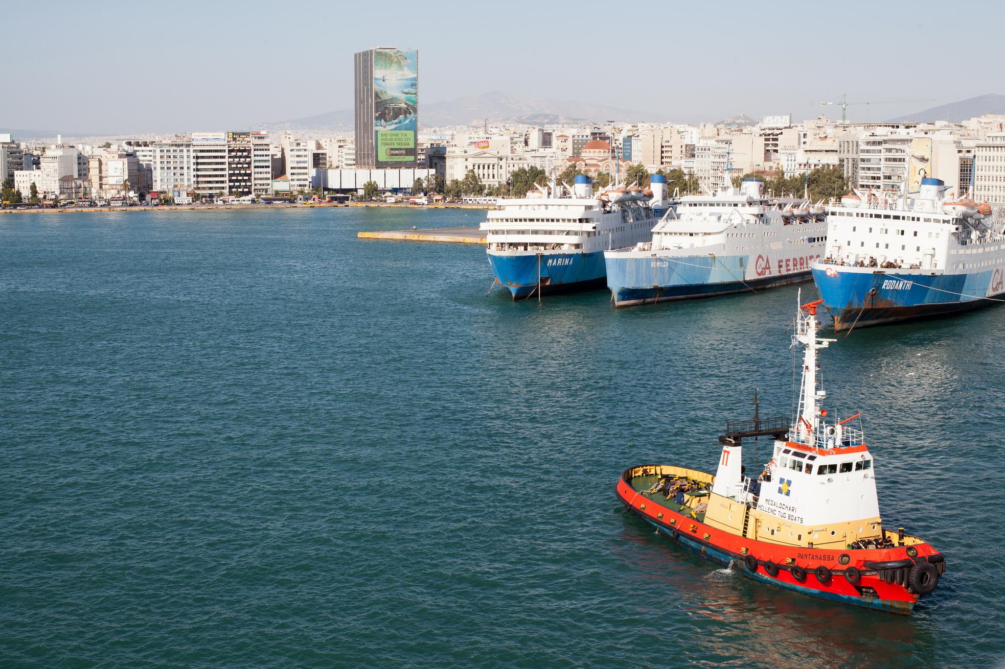MS Marina Romilda Rodanthi GA Ferries docked Piraeus Port of Athens Greece 01