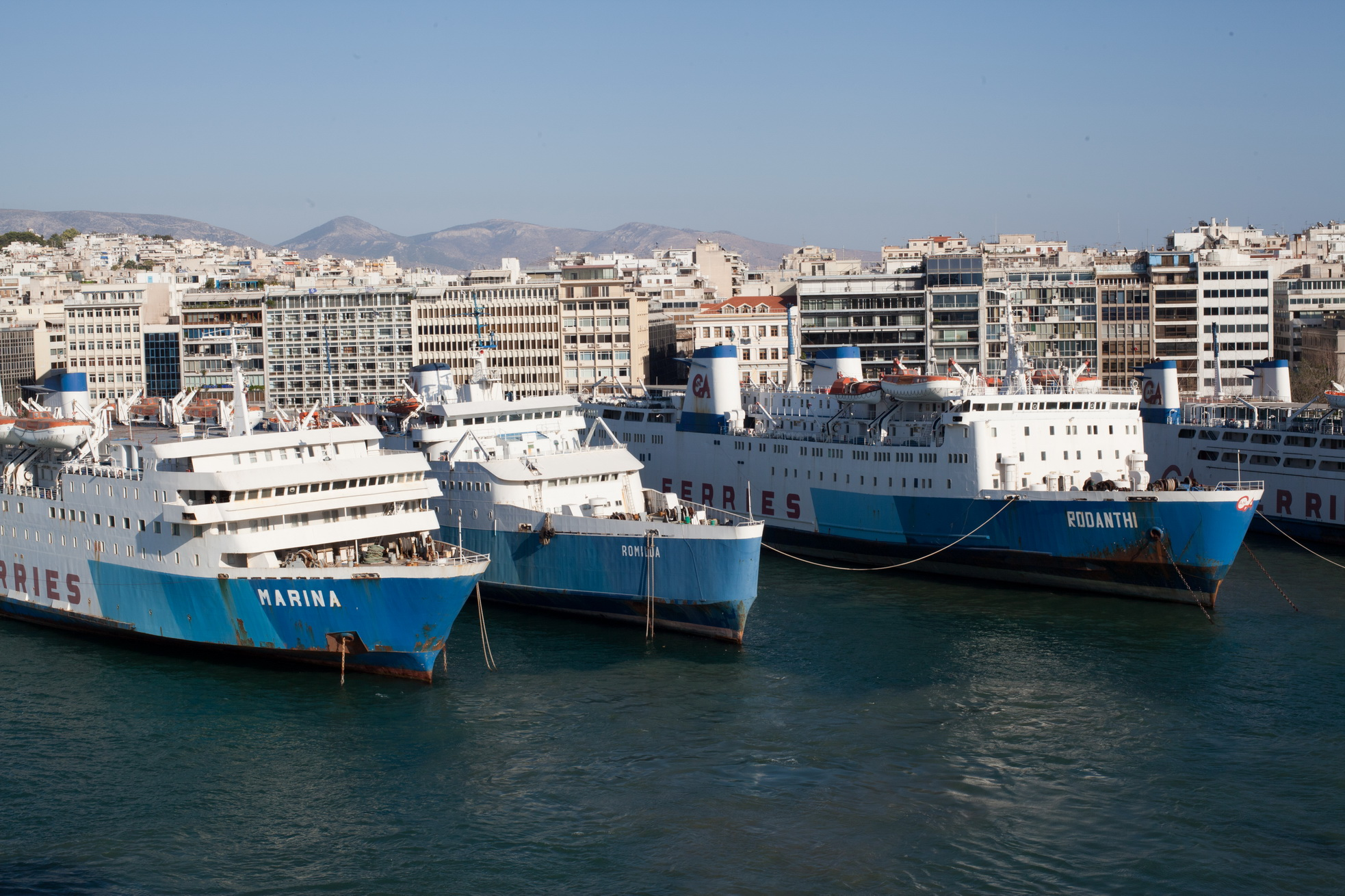 MS Rodanthi IMO 7353078 GA Ferries docked Piraeus Port of Athens Greece 01