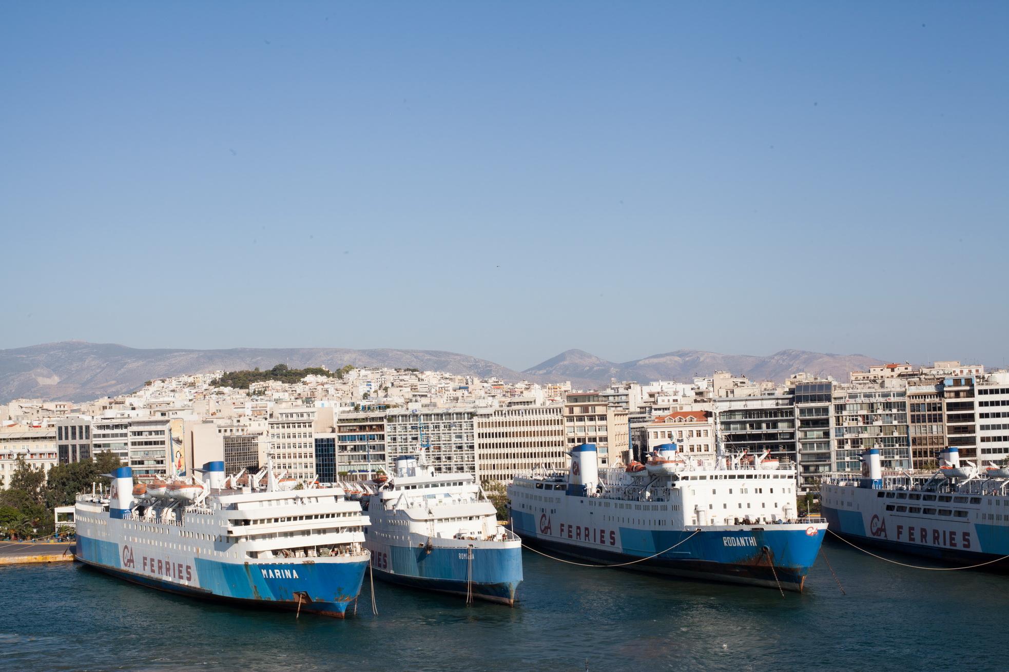 MS Rodanthi IMO 7353078 GA Ferries docked Piraeus Port of Athens Greece 02