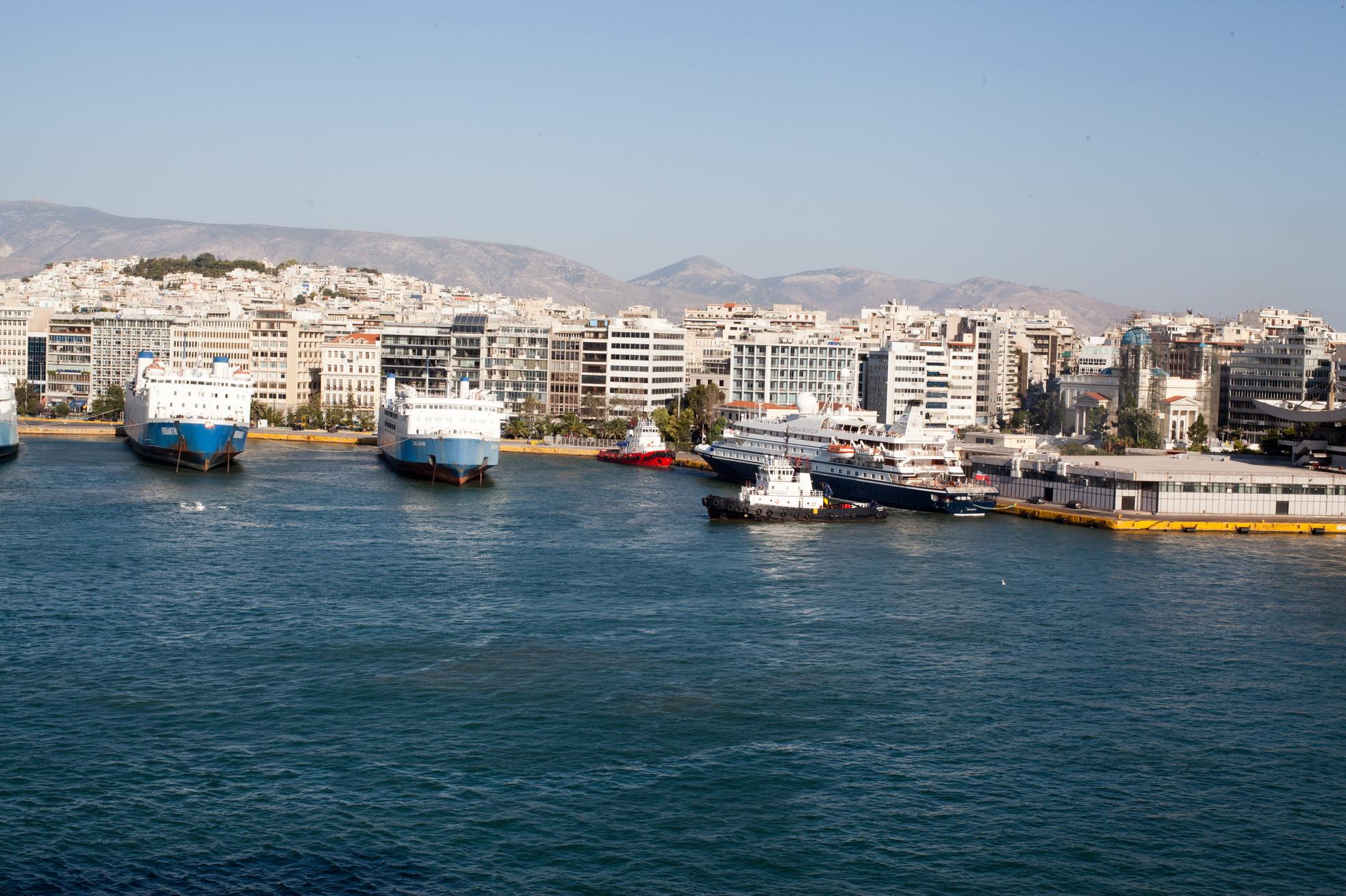 MS Rodanthi and Daliana GA Ferries with Yacht Sea Dream II docked Piraeus Port of Athens Greece 02