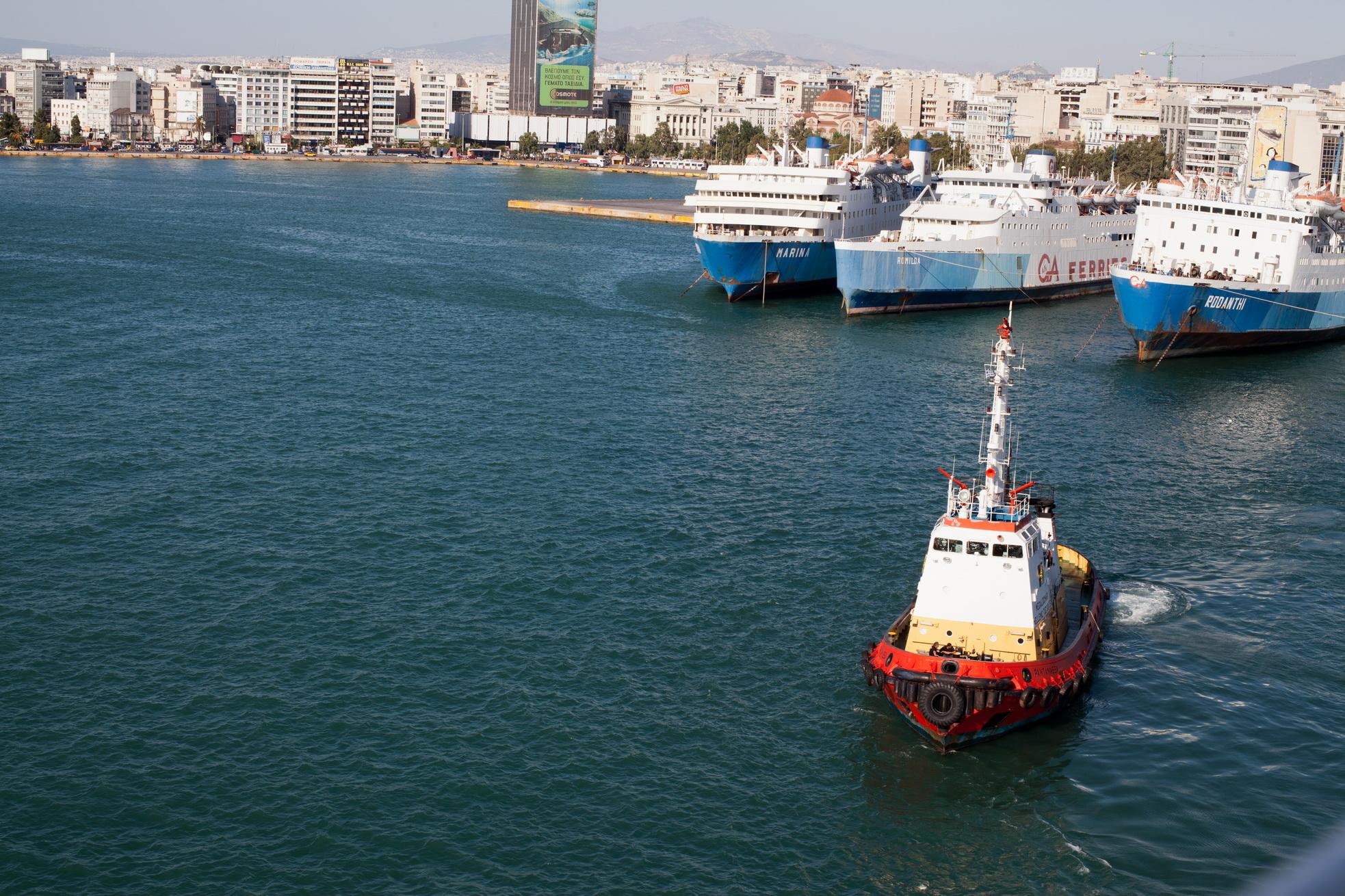 MS Romilda IMO 7368499 Marina Rodanthi GA Ferries docked Piraeus Port of Athens Greece 02