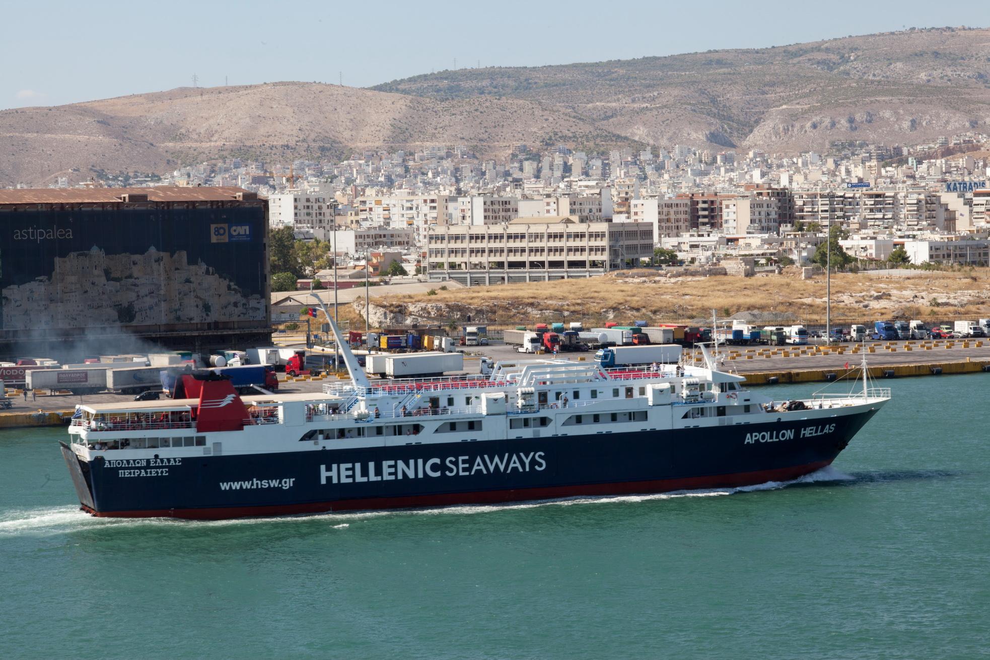 MS Apollon IMO 8807105 Heellas Hellenic Seaways Piraeus Port of Athens Greece 01