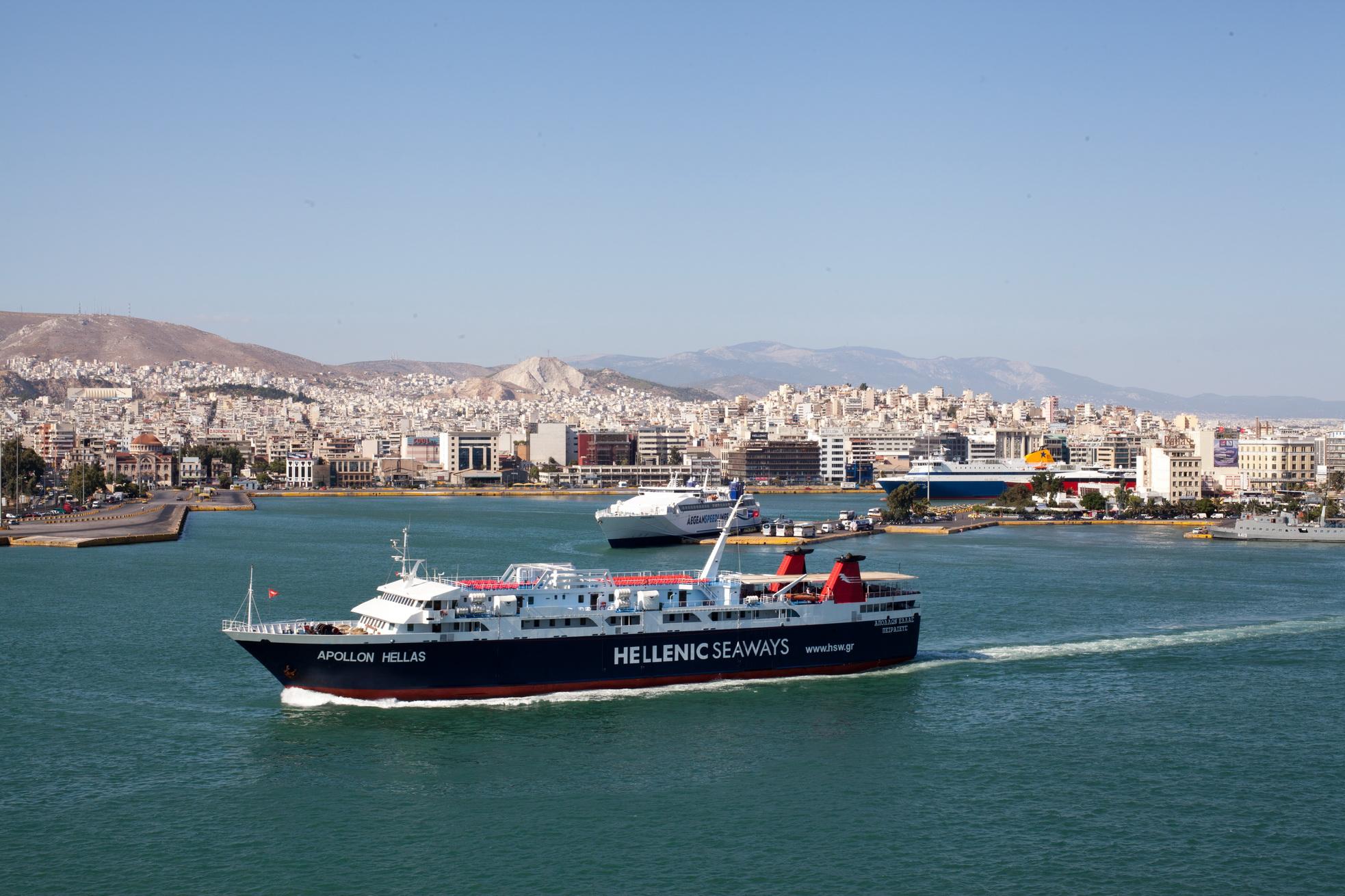 MS Apollon IMO 8807105 Heellas Hellenic Seaways Piraeus Port of Athens Greece 07