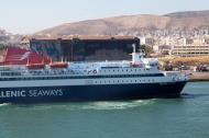 MS Nissos Chios IMO 9215555 Hellenic Seaways docking Piraeus Port of Athens Greece 01
