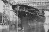 Asisbiz Archive Japanese Naval photo showing the Akagi at Kure naval shipyard on April 6 1925 01