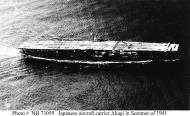 Asisbiz Archive Japanese Naval photo showing the Japanese aircraft carrier Akagi during maneuvers 1941 01